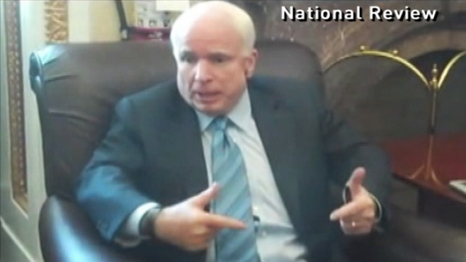 Video: Sen. McCain gets heated over Dont Ask Dont Tell.