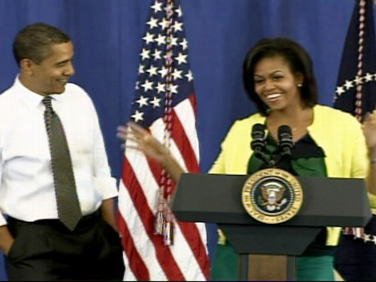 ABC News video of Michelle Obama doing the hula dance.