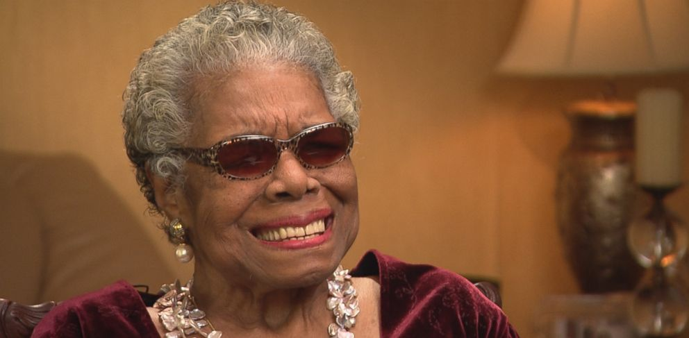 "PHOTO: Dr. Maya Angelou on ""This Week"" talking about her new book ""Mom & Me & Mom."""