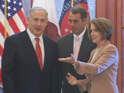 Video of Pelosi, Boehner and Netanyahu on Capitol Hill