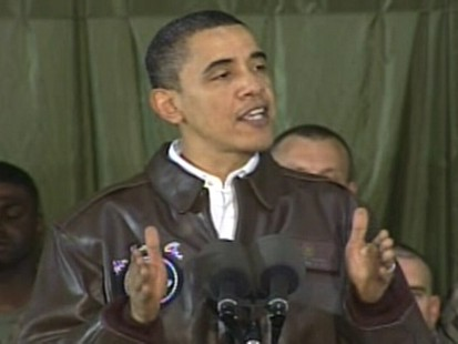ABC News video of President Obama speaking to troops in Afghanistan.