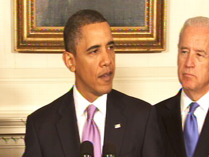 Video of President Obama saying he will take on big banks.