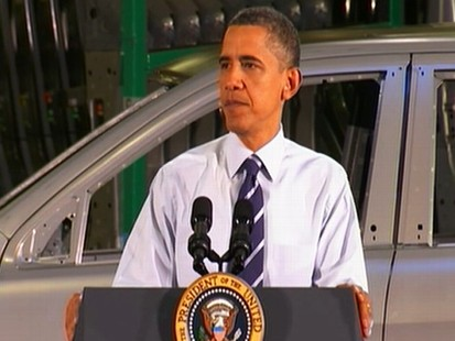 Video: President Barack Obama talks to auto makers.