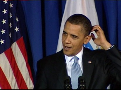 ABC News video of President Obama speaking at DNC fundraiser in Virginia.