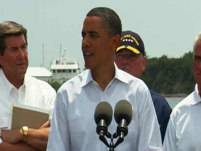 Video of President Barack Obama remarks to Gulf Coast residents on oil spill.