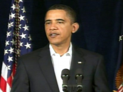 ABC News video of President Obama speaking about December 2009 Iran protests.