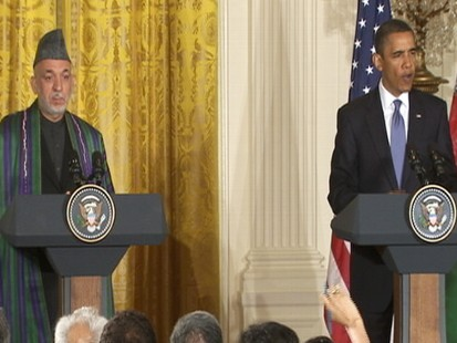 Video of President Barack Obama joint press conference with Hamid Karzai.