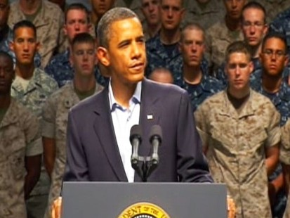 Video of President Barack Obama remarks after meeting with Adm Thad Allen in Florida.