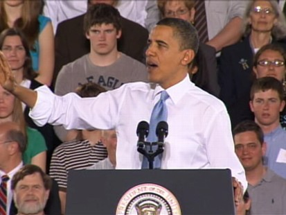 ABC News video of President Obama speaking in Portland, Maine.