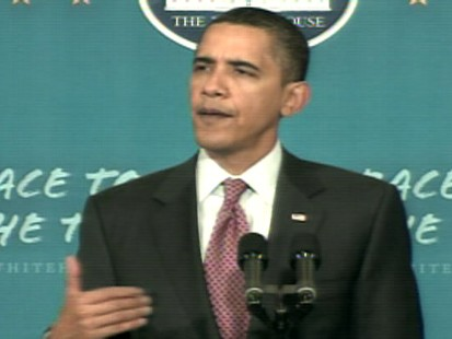 ABC News video of President Obama speaking to a Wright Middle School in Madison, Wisconsin.