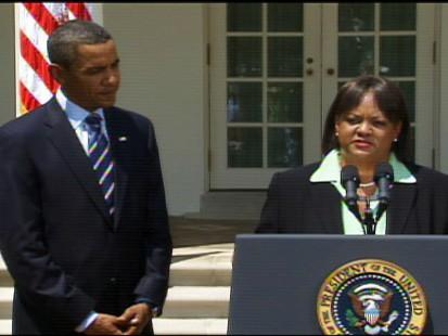 Video of Obama naming Dr. Regina Benjamin to be the new surgeon general.