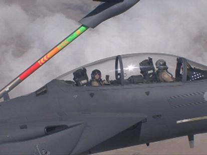 ABC News video of mid-flight refueling.