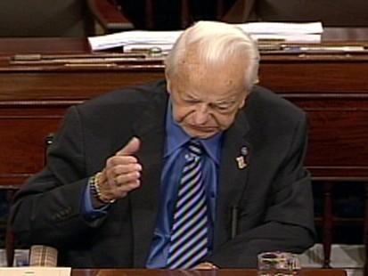 Video of Sen. Robert Byrd on the Senate floor denouncing the idea of sending more U.S. troops to Afghanistan.