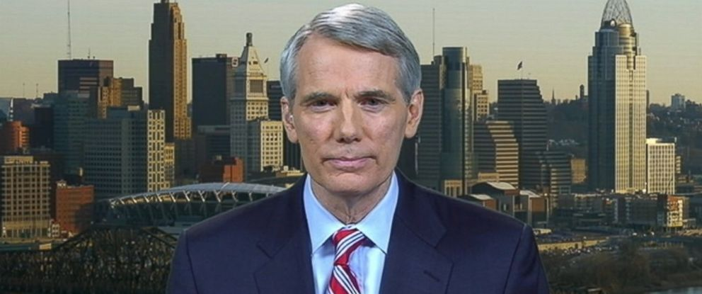 "PHOTO: Senator Rob Portman (R) Ohio appears on ABCs ""This Week"" in May 2013."