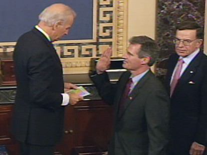 Video of Scott Brown being sworn into the Senate by Vice President Biden.