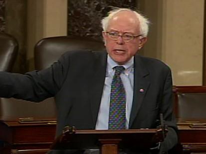 Video of Senator Bernie Sanders on health care amendment.