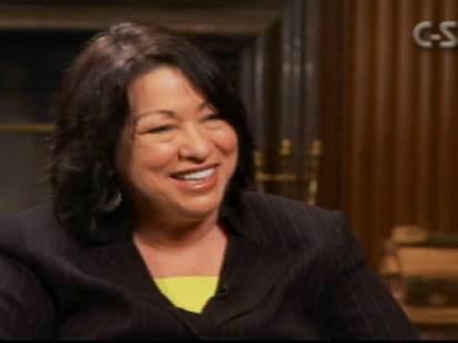 Video of Sonia Sotomayor describing how she came to learn that she was goign to be nominated to the Supreme Court.