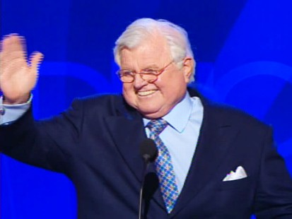 photo of ted kennedy speaking to the democratic national convention in denver, colorado