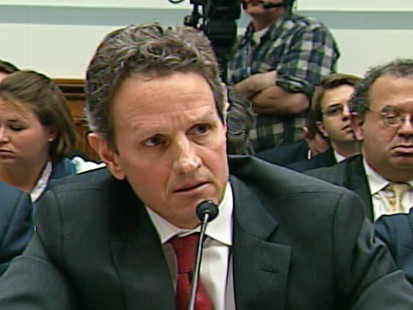 Video of Treasury Secretary Tim Geithner under fire during AIG hearing.