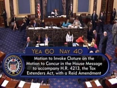 Video: Uemployment benefits extension advanced in Senate.