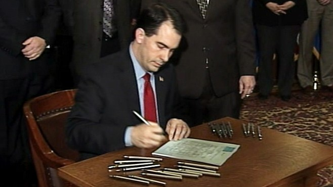 VIDEO: Wisconsin Governor Walker Signs Tax Bill