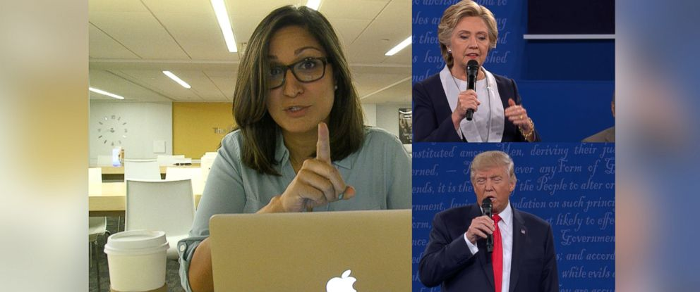 PHOTO: ABC News Amna Nawaz speaks to undecided voters after the second presidential debate.