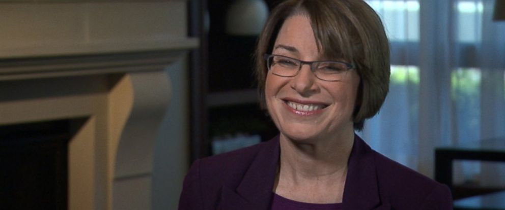 PHOTO: Senator Amy Klobuchar speaks with ABC News Martha Raddatz.