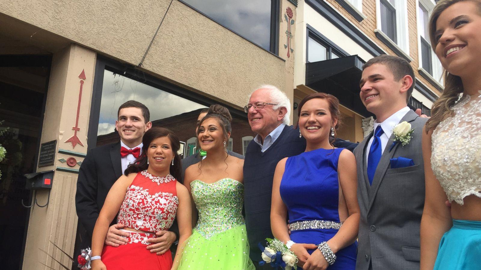 Bernie Sanders Greets Students Headed to Prom - ABC News
