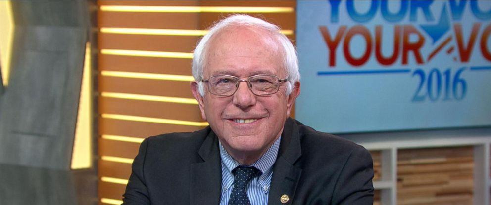 "PHOTO: Bernie Sanders appears on ""Good Morning America,"" April 1, 2016."