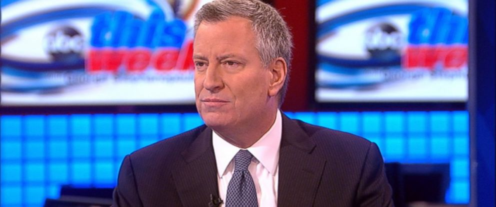 PHOTO: New York Mayor Bill de Blasio on This Week