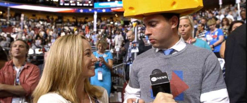 PHOTO: ABC News traded items with people at the Democratic National Convention in Philadelphia.