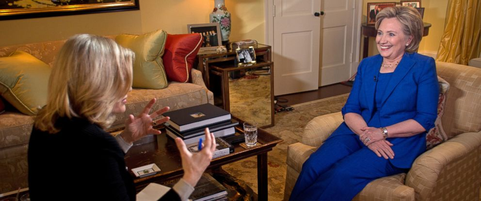 PHOTO: ABC News Diane Sawyer interviews former Secretary of State Hillary Clinton in Washington, D.C. on June 5, 2014.