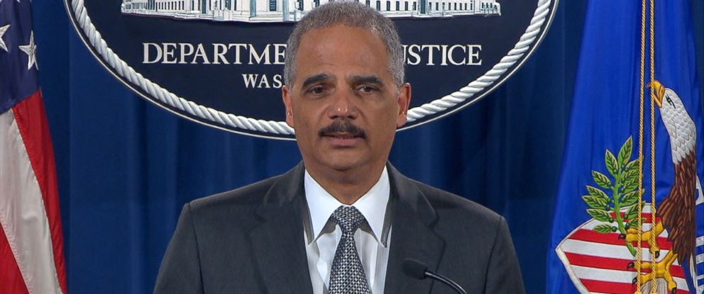 PHOTO: Attorney General Eric Holder addresses the nation about the grand jury decision in the chokehold death of Eric Garner from the White House, Dec. 3, 2014, in Washington.
