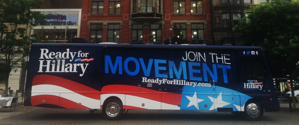 """PHOTO: The """"Hillary Bus"""" will follow Hillary Clinton from stop to stop on her nationwide book tour."""