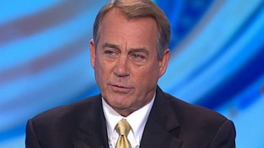 PHOTO: Speaker of the House Representative John Boehner (R) Ohio on This Week