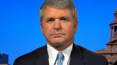 PHOTO: Rep. Michael McCaul on This Week with George Stephanopoulos, August 24, 2014.