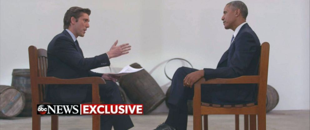 PHOTO: President Obama spoke exclusively with ABC News anchor David Muir in Havana, Cuba.