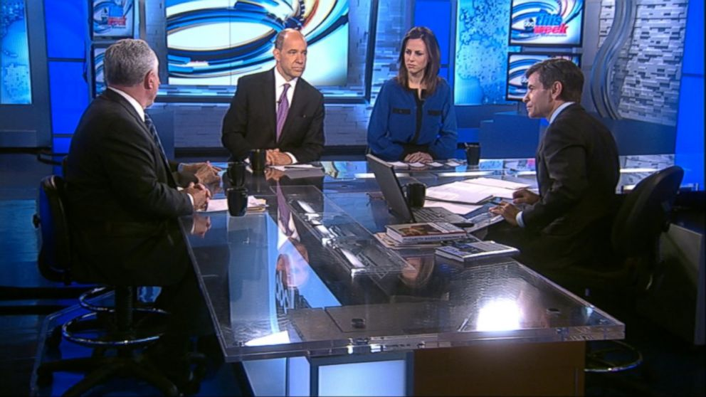 """ABC News Political Analyst and ABC News Special Correspondent Matthew Dowd, ABC News Contributor and The Weekly Standard Editor Bill Kristol, ABC News Contributor and New York Times Columnist Paul Krugman and Fusion's """"AM Tonight"""" Host Alicia Menendez on 'This Week'"""