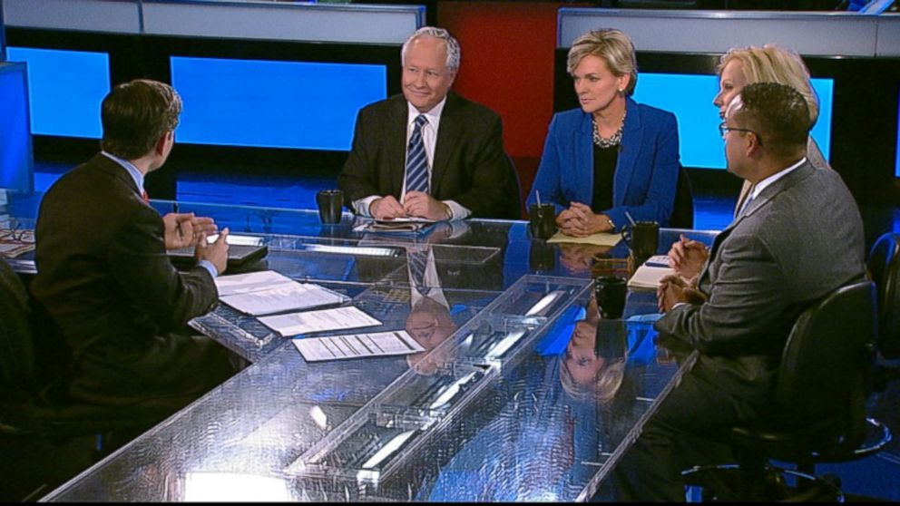 ABC News Contributor and The Weekly Standard Editor Bill Kristol, The Wall Street Journal Columnist Peggy Noonan, Former Michigan Governor (D) Jennifer Granholm, Rep. Keith Ellison (D) Minnesota on 'This Week'