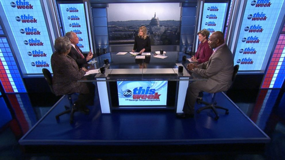 ABC News Contributor and Democratic Strategist Donna Brazile, ABC News Contributor and The Weekly Standard Editor Bill Kristol, ABC News' Cokie Roberts, and The Wall Street Journal Columnist Bret Stephens on 'This Week'