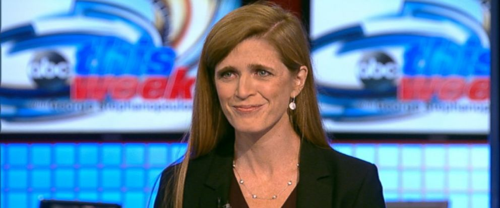 PHOTO: U.S. Ambassador to the U.N. Samantha Power on This Week