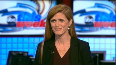 PHOTO: U.S. Ambassador to the U.N. Samantha Power on This Week