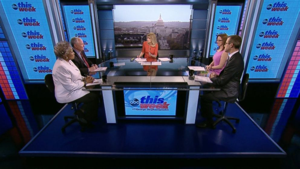 """Democratic Strategist and ABC News Contributor Donna Brazile, CNN's """"Crossfire"""" Co-Host S.E. Cupp, The Weekly Standard Editor Bill Kristol and ABC News Senior Washington Correspondent Jeff Zeleny on 'This Week'"""