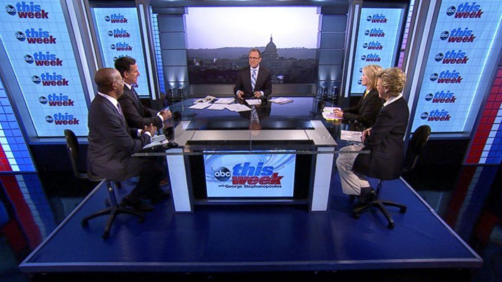 "ABC News' Cokie Roberts, Yahoo News National Political Columnist Matt Bai, CNN's ""Crossfire"" Co-Host Van Jones, Former U.S. Senator (R-PA) Rick Santorum and Fox News Anchor Greta Van Susteren on 'This Week'"