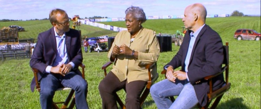 PHOTO: ABC News Contributor and Democratic Strategist Donna Brazile and ABC News Political Analyst Matthew Dowd on This Week