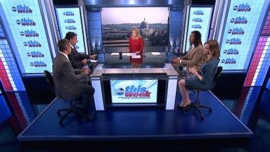 PHOTO: Rep. Adam Kinzinger (R) Illinois, Former New Mexico Governor Bill Richardson, Echelon Insights Co-Founder and The Daily Beast Contributor Kristen Soltis Anderson, and CNN Contributor and ESPN Senior Writer LZ Granderson on This Week