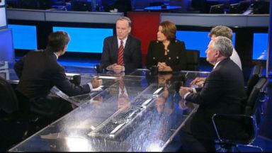 PHOTO: ABC News Cokie Roberts, ABC News Contributor and The Weekly Standard editor Bill Kristol, ABC News Contributor and Republican Strategist Ana Navarro, and Former Vermont Governor and Democracy for America Founder Howard Dean on This Week