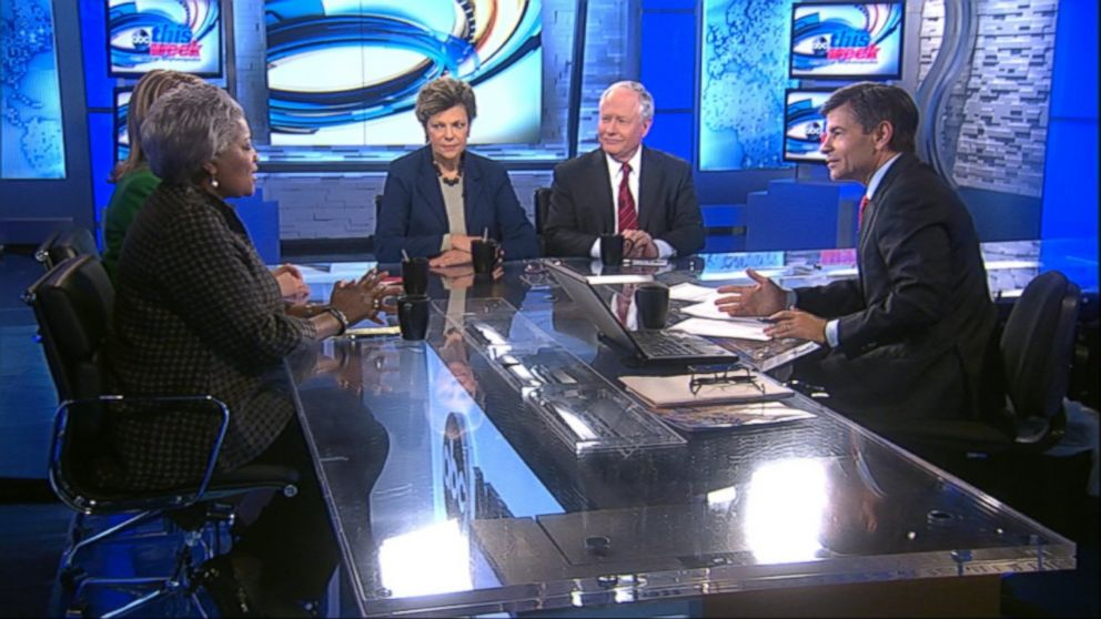 ABC News Contributor and Democratic Strategist Donna Brazile, ABC News Contributor and The Weekly Standard Editor Bill Kristol, ABC News' Cokie Roberts, and Republican Strategist and CNBC Contributor Sara Fagen on 'This Week'