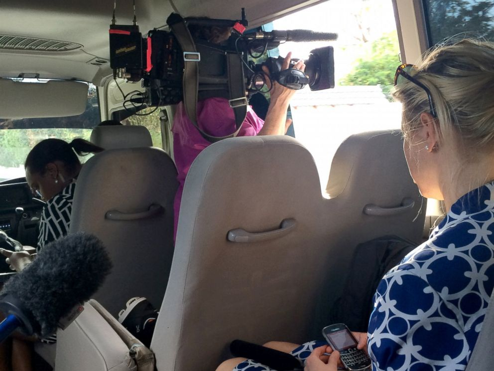 PHOTO: Traveling with the White House press corps isnt always as glamorous as it sounds.