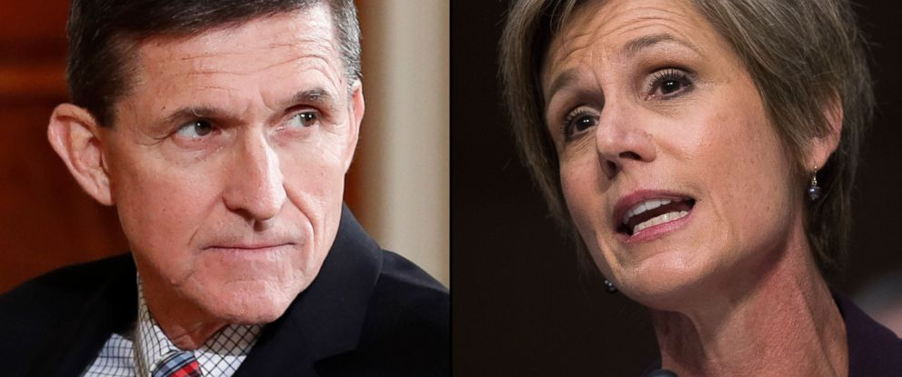 PHOTO: Former National Security Adviser Michael Flynn, left and Former acting Attorney General Sally Yates.